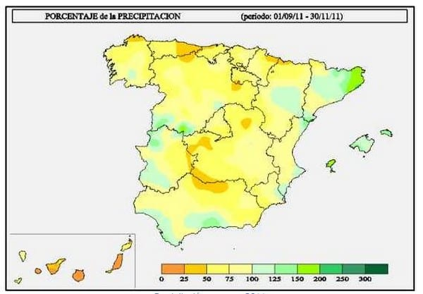precipitación último trimestre 2011