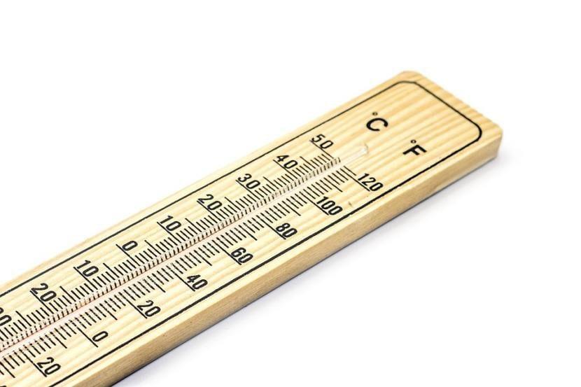 Termómetro para medir la temperatura