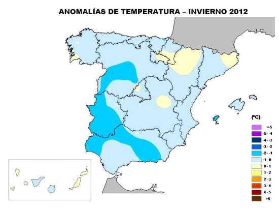 Temperatura diciembre a feberero 2012