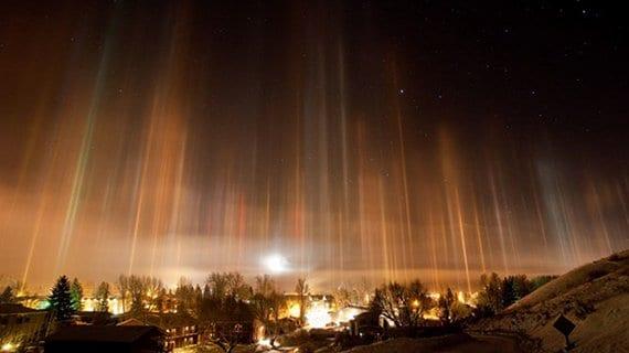 Pilares de luz en Jackson