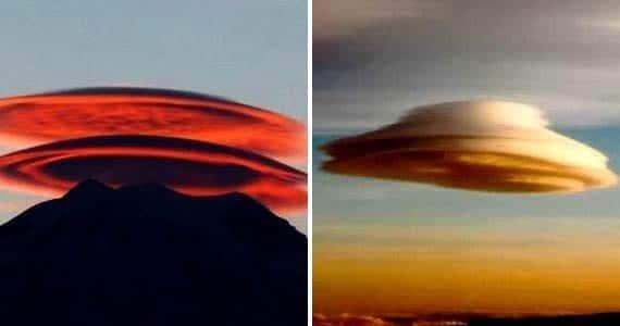 Nubes que parecen platillos volantes