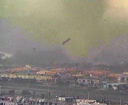 Efectos de los tornados en Texas