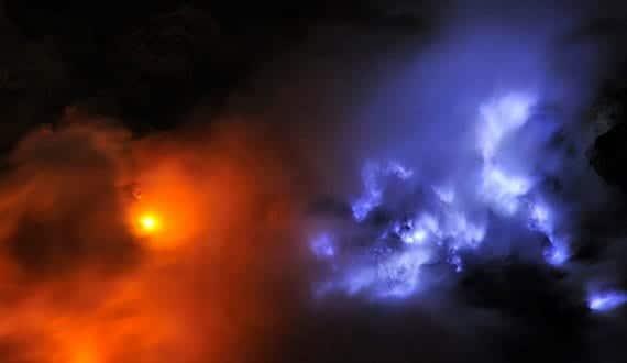 Volcán de fuego azul en Java 3