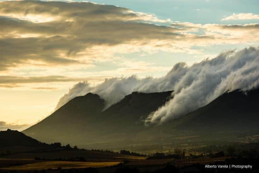 Efecto Foehn en una montaña