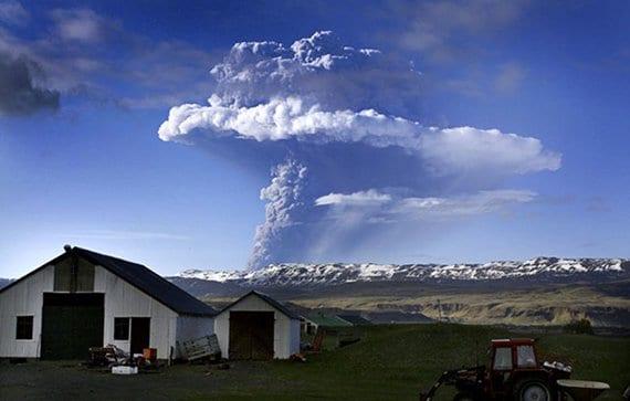 Volcán Grímsvötn en erupción