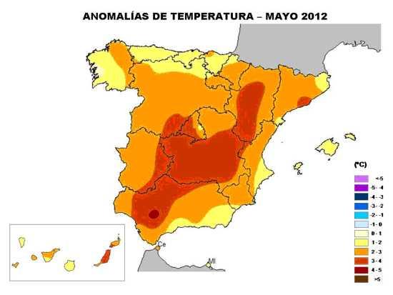 Temperaturas de Mayo 2012
