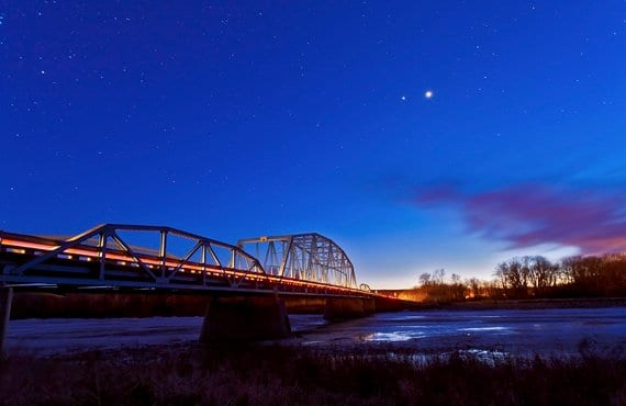 Venus en el cielo nocturno