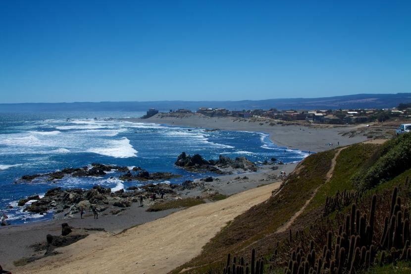 Costa de Chile con corrientes de Humboldt