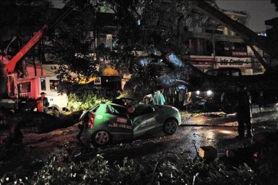 Tormenta tropical en Vietnam
