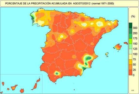 Precipitaciones en Agosto