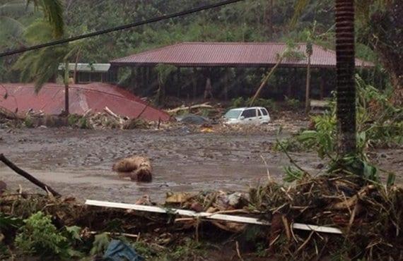 """Ciclón """"Evan"""", Samoa"""