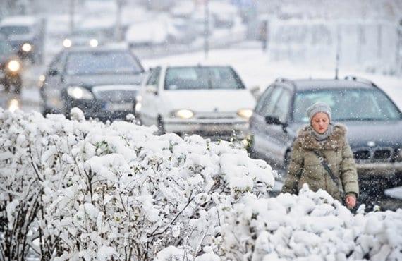 Nieve en Polonia