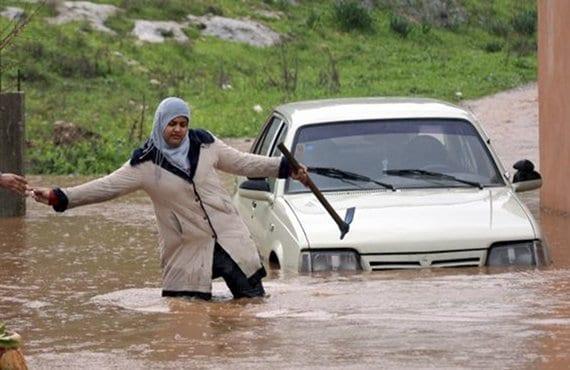 Inundaciones en Cisjordania