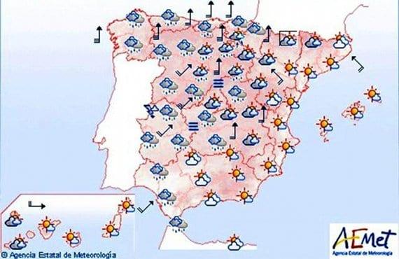 Previsión meteorológica 24/10