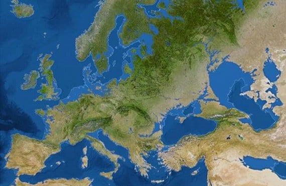 Mapa deshielo polos