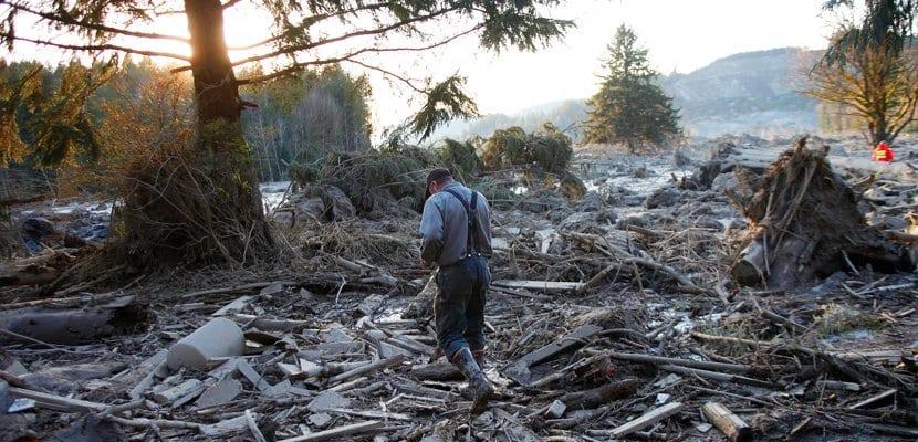 Desprendimiento de tierras en Oso, Washington