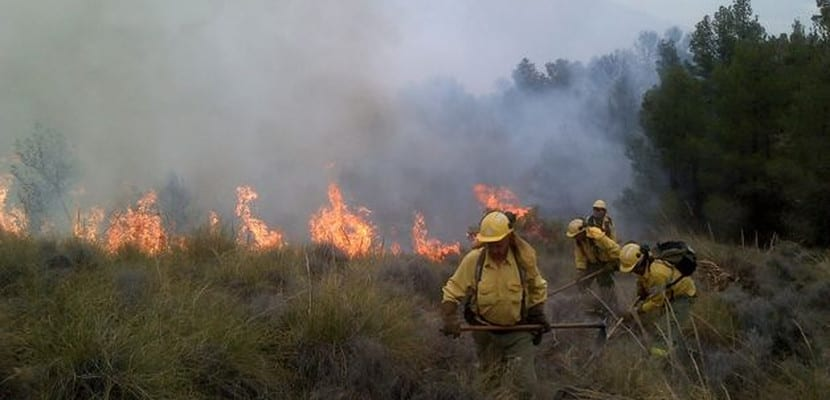 Incendio en España