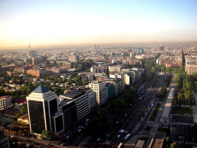 Aire contaminada en Madrid