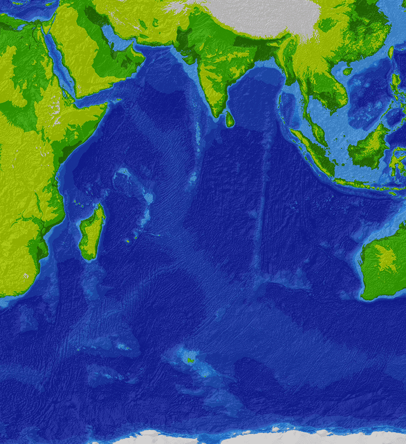Batimetría Océano Índico