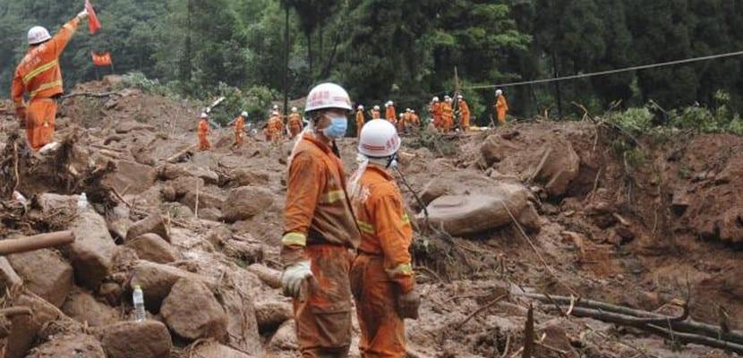 Corrimiento de tierras en Yunnan, China