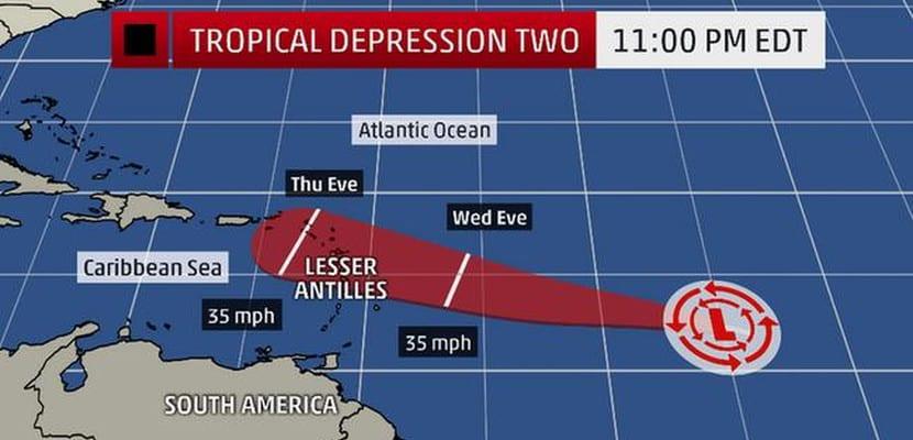 Se forma depresión tropical en las Antillas
