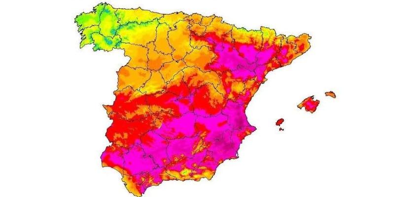 Mapa temperaturas de España