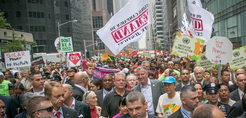 Marcha popular por el Clima de Nueva York