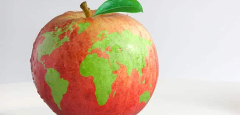 La Tierra con forma de manzana