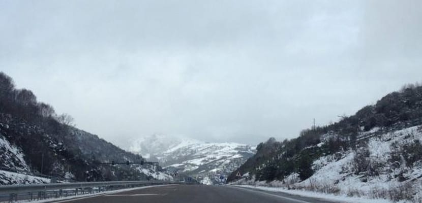 Carretera española nevada
