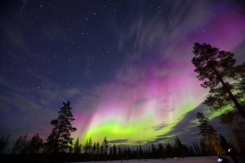 Aurora boreal multicolor