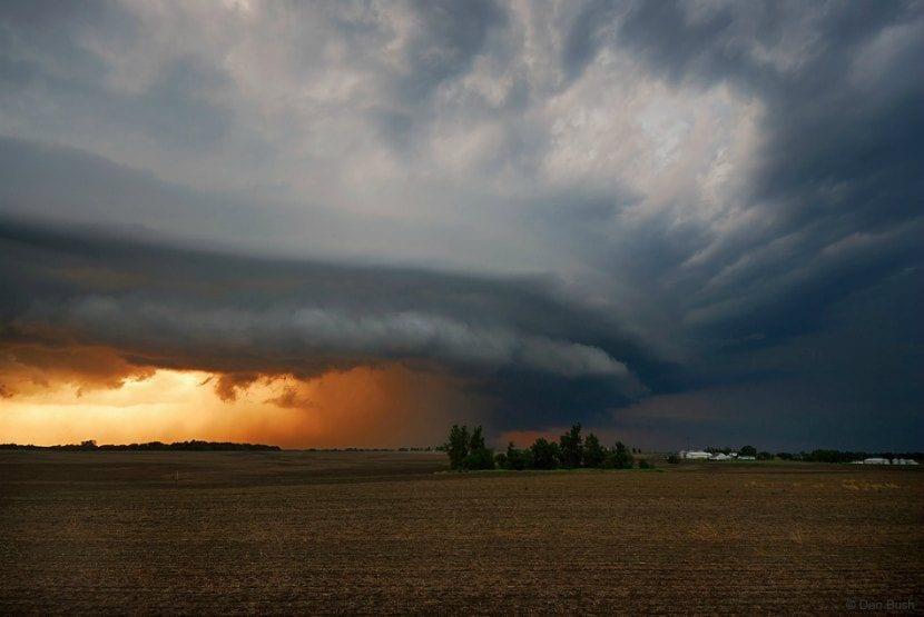 Formacion de una tormenta supercelula o ciclogénesis explosiva