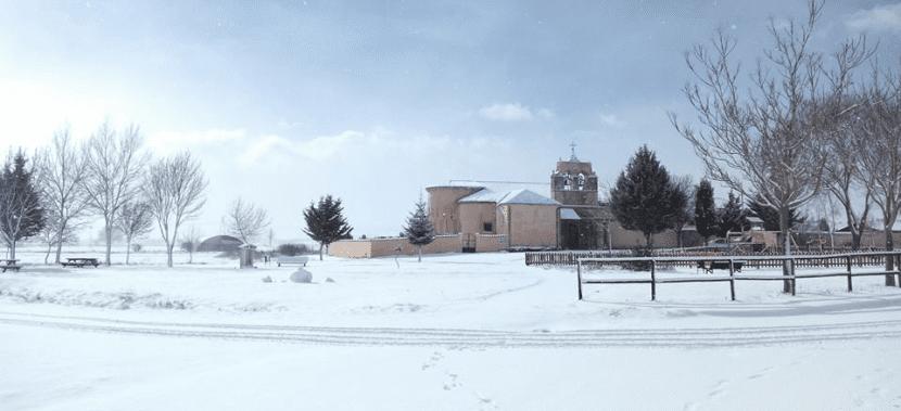 Iglesia nevada en Arenillas de San Pelayo