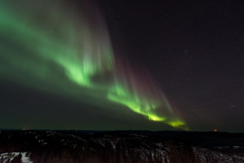 Fenómeno de la aurora boreal