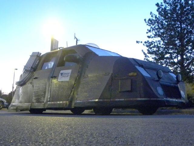 The dominator, el dominador, es el vehículo usado en la serie de discovery cazadores de tormentas