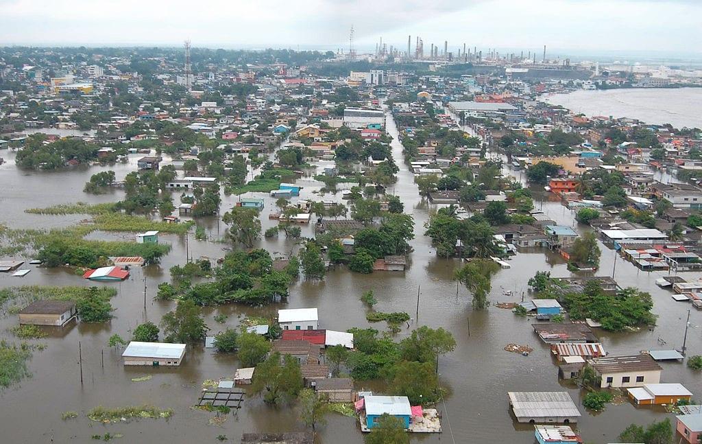 Inundación en Minatitlán (Veracruz) en el 2008