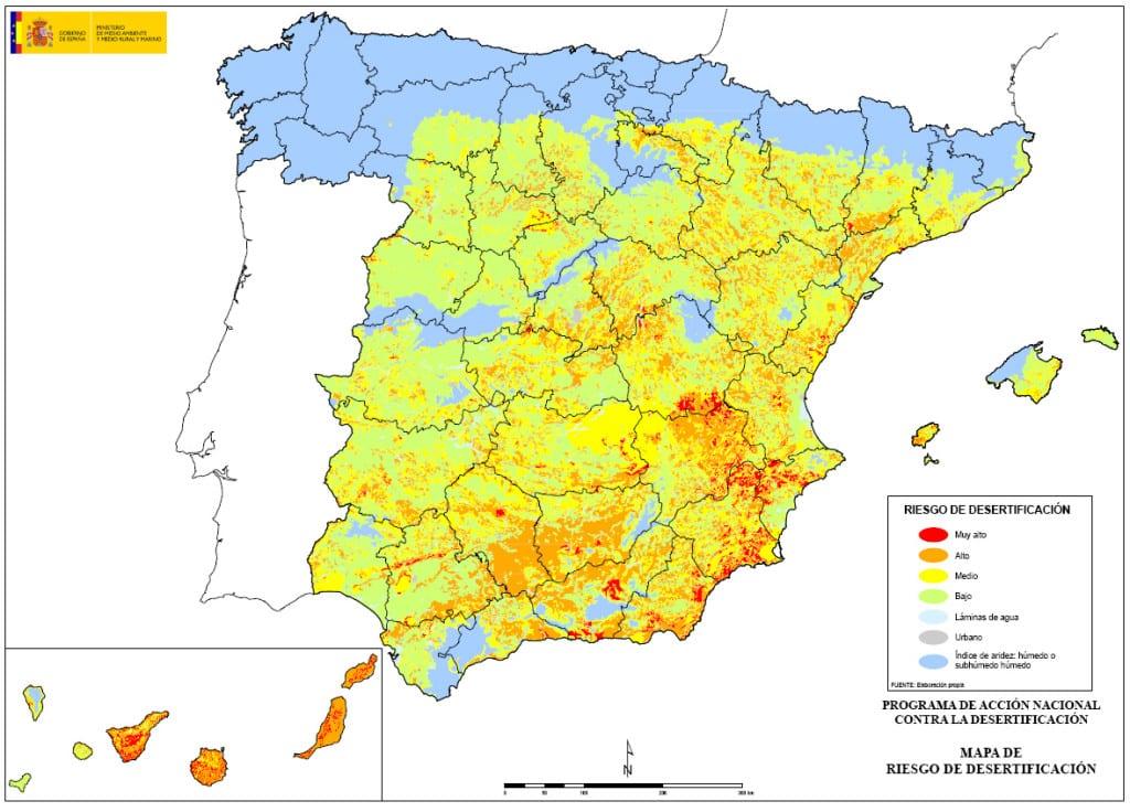 Mapa desertificación