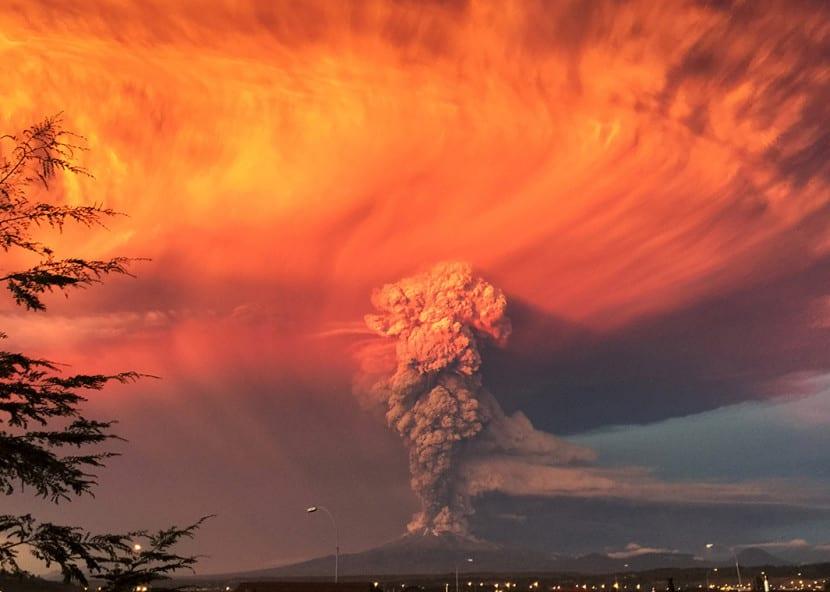 espectacular volcán