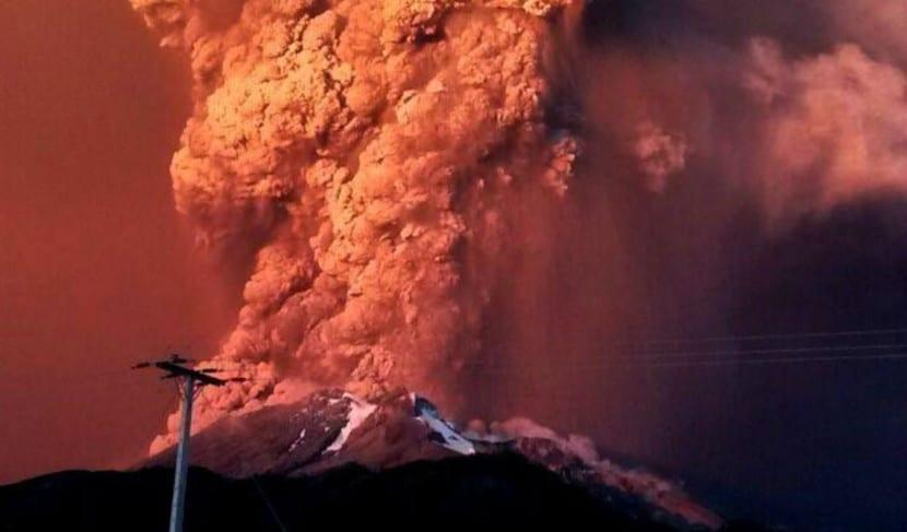 erupción cabulco