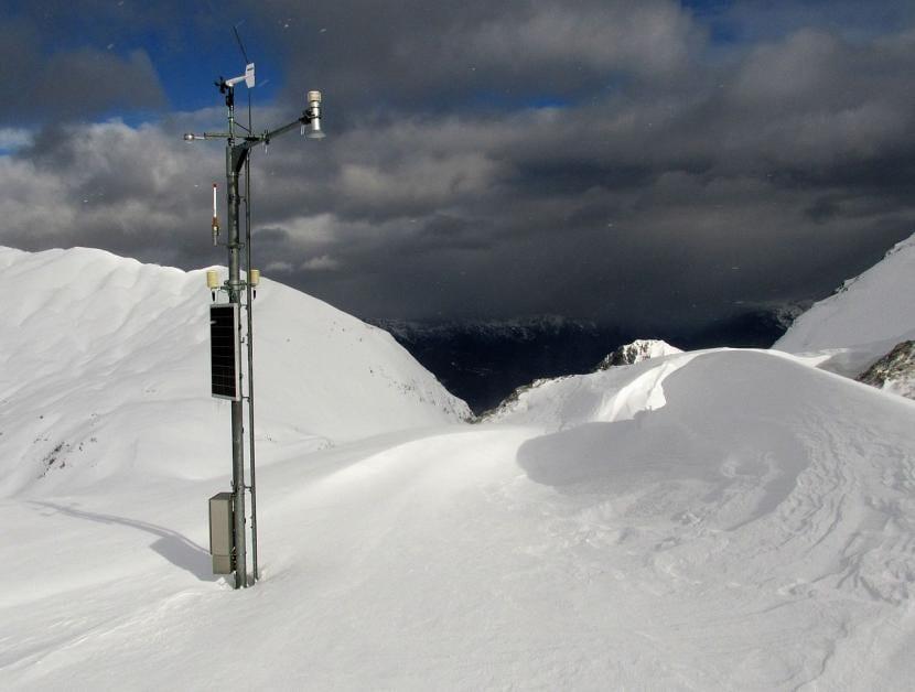Nivómetro para saber la cantidad de nieve