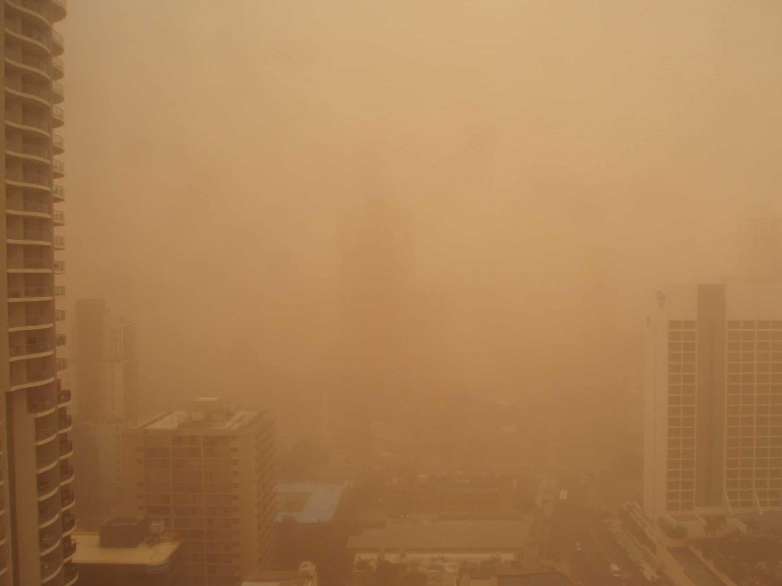 las tormentas de arena y polvo cómo se producen