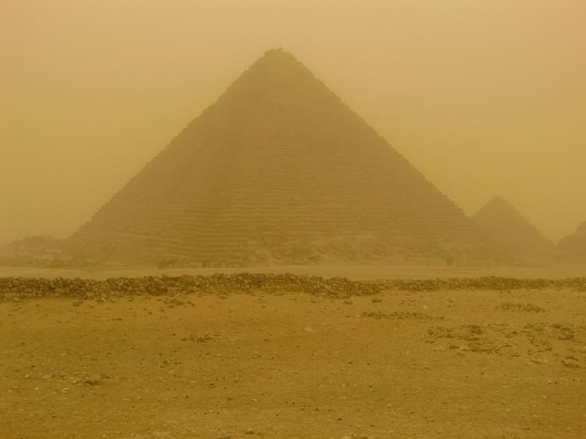 Tormenta de arena en Egipto