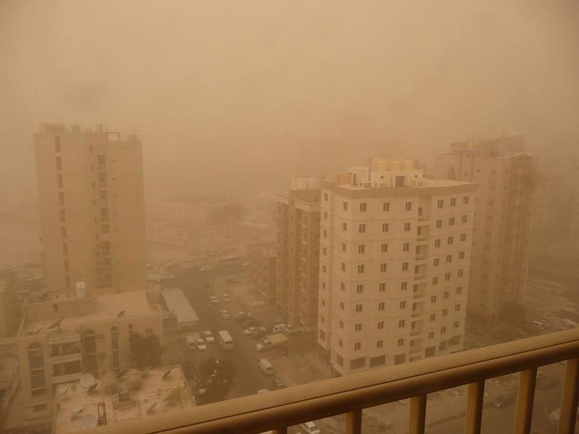 Tormenta de arena en Kuwait