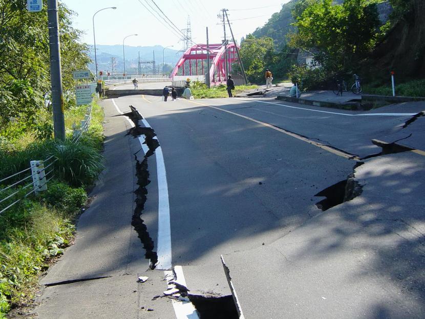 Terremoto en Chuetsu, en el 2004