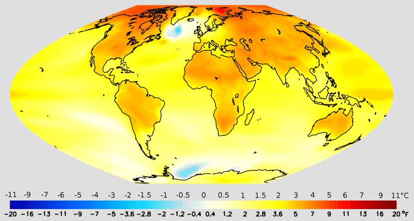 Mapa de cambio climático