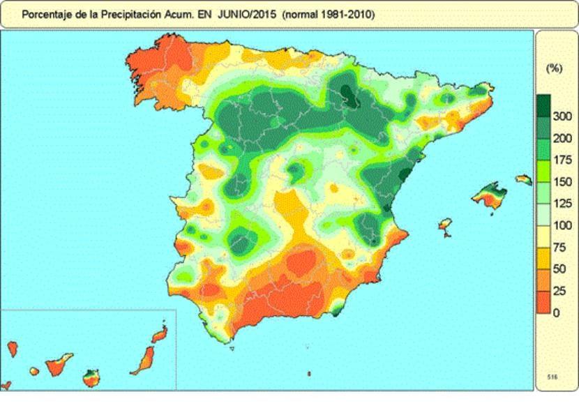 Porcentaje de precipitación 2015