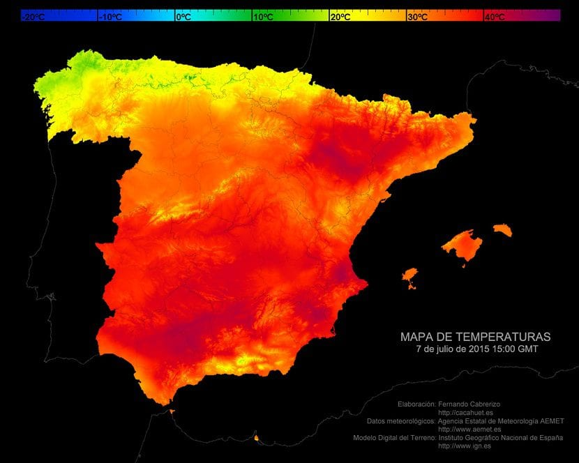 Mapa de temperaturas