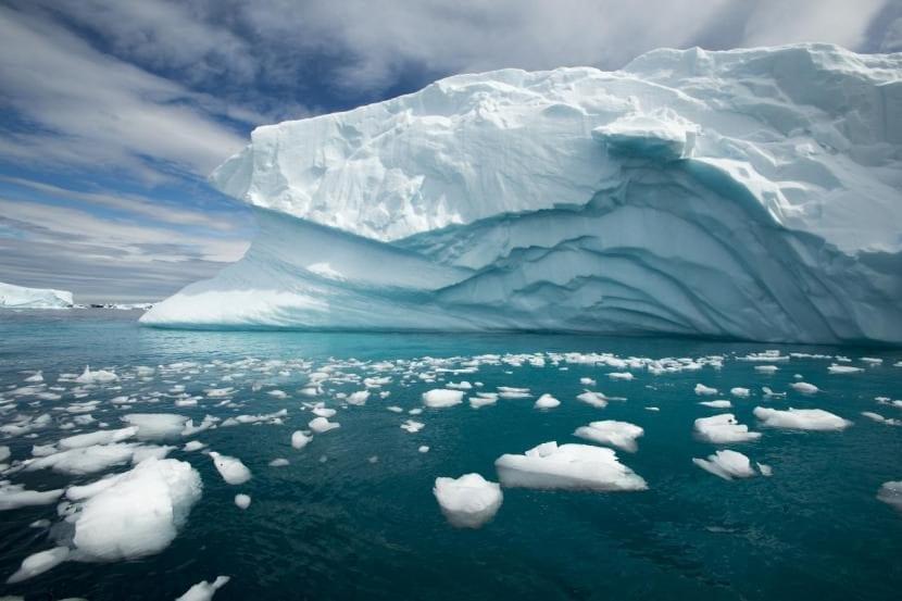 Glaciar de la Antártida