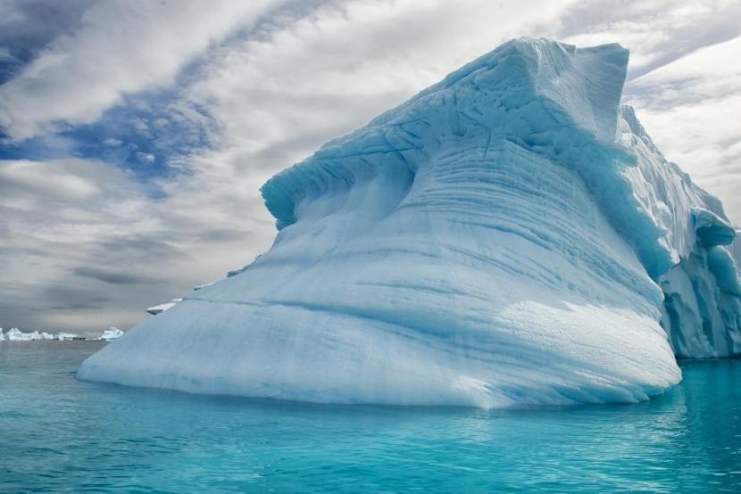 Glaciares en la Antártida