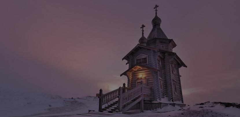 Iglesia en la Antártida