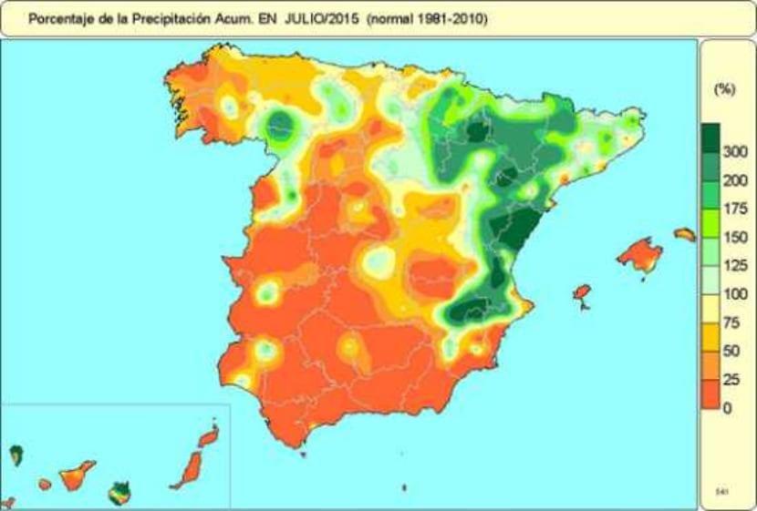 Precipitaciones julio 2015